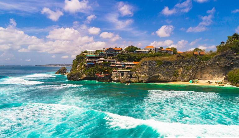 Suluban surf beach. Bali, Indonesia.