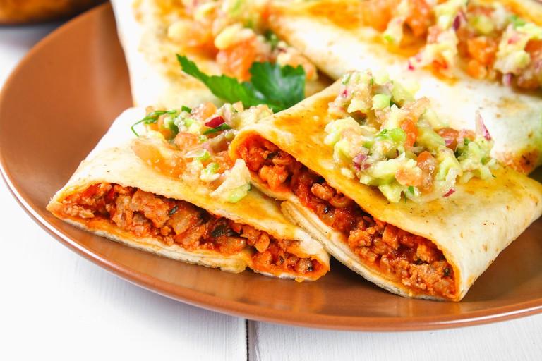 Traditional Mexican dish - chimichanga