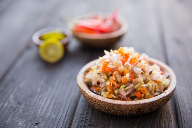 KW1NHJ Sambal matah, Raw salad with Bali traditional sauce