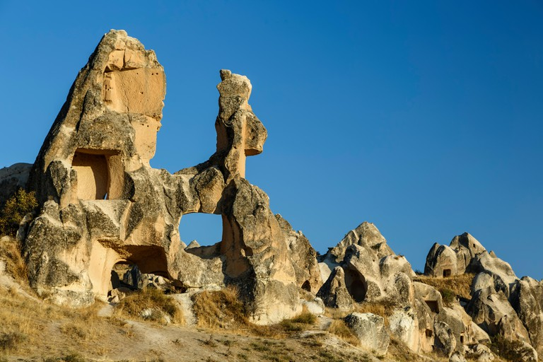 Horse-shaped rock, Swords Valley (Meskendir), near Goreme, Cappadocia, Turkey