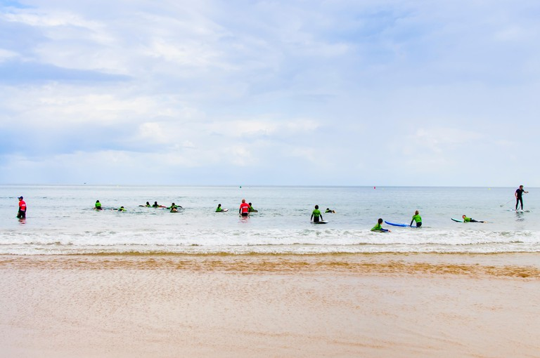 Gijon Asturias at the beach