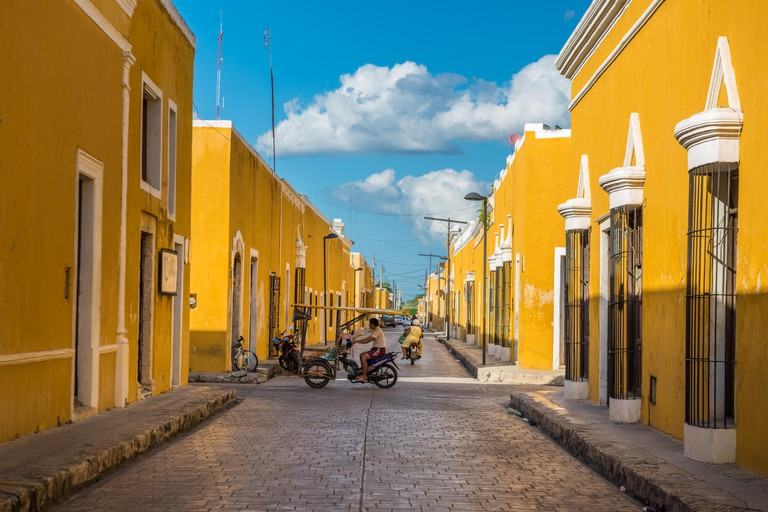 Izamal, the yellow colonial city of Yucatan, Mexico. Image shot 02/2017. Exact date unknown.