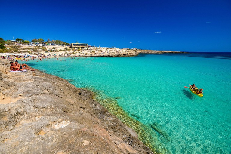 Italy, Sicily, Lampedusa Island, Cala Croce bay