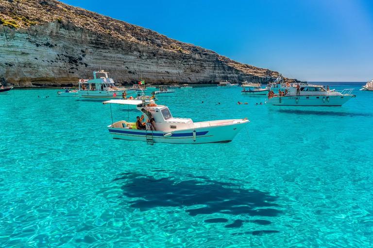 Italy, Sicily, Lampedusa Island Cala Tabaccara