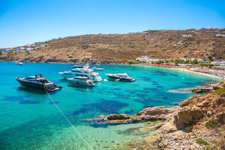 MCEHYG Psarou Beach. Mykonos Island. Ciclades Islands. Greece