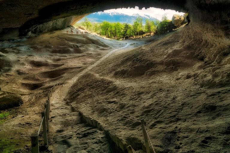 Cave at Cueva del Milodon Natural Monument, Chile, South america