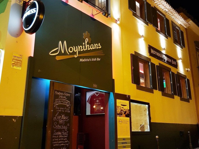 Moynihan's Irish Bar in Funchal, Madeira. Expat business owners in Madeira believe the return of British holidaymakers will help ???rejuvenate??? an island hit by a lack of tourism during the coronavirus pandemic. Picture date: Tuesday May 18, 2021.