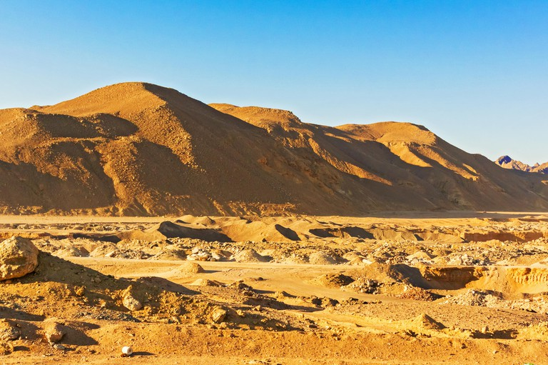 Picturesque landscape of Eastern desert in Egypt.