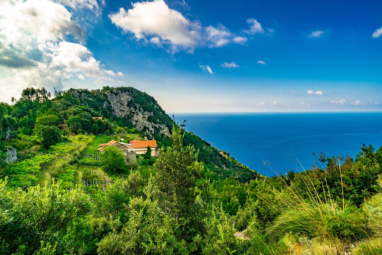 The Walk of the Gods is also known as the Path of the Gods and offers stunning views of the Amalfi Coast.