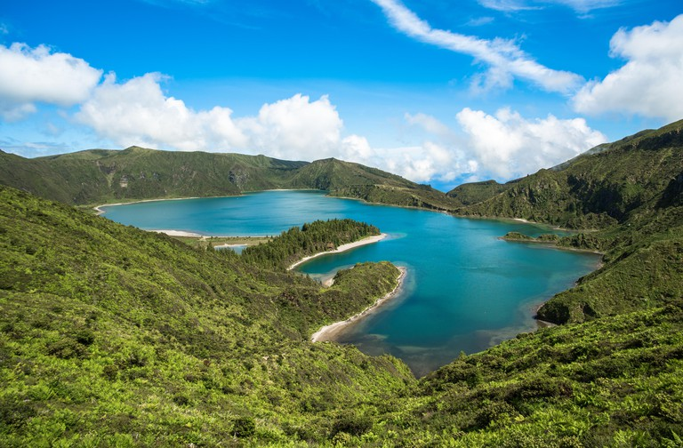 View of Fogo lake in Sao Miguel Island, Azores, Portugal