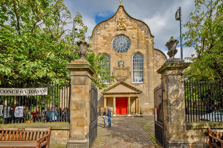 EDINBURGH SCOTLAND CANONGATE KIRK OR CHURCH IN THE ROYAL MILE