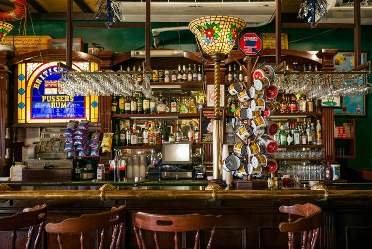 British Virgin Islands, Tortola. Road Town. Pussers Rum Store and Bar interior (Editorial Use Only)