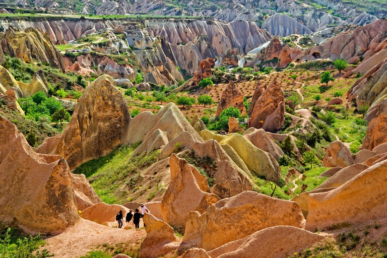 Red and Rose Valley, part of the Goreme National Park, Cappadocia, Turkey.