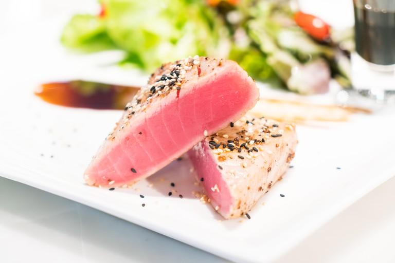 Grilled Tuna steak - soft focus point