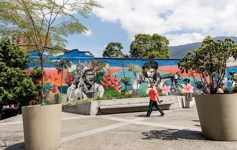 Urban Graffiti In Medellin Colombia South America