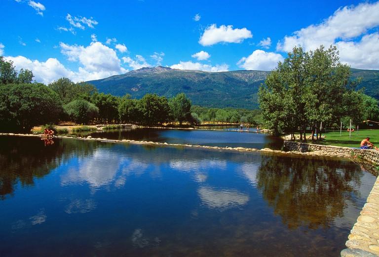 Las Presillas pools. El Paular valley, Rascafria, Madrid province, Spain.