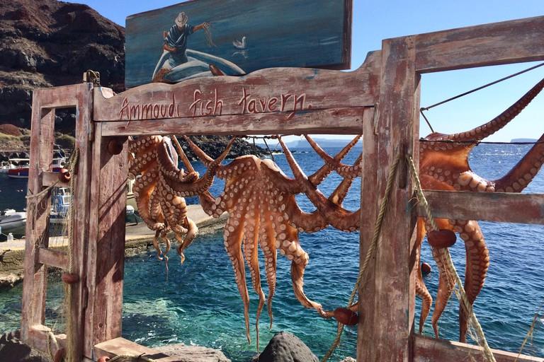 S1X2BG Ammoudi fish taverna santorini