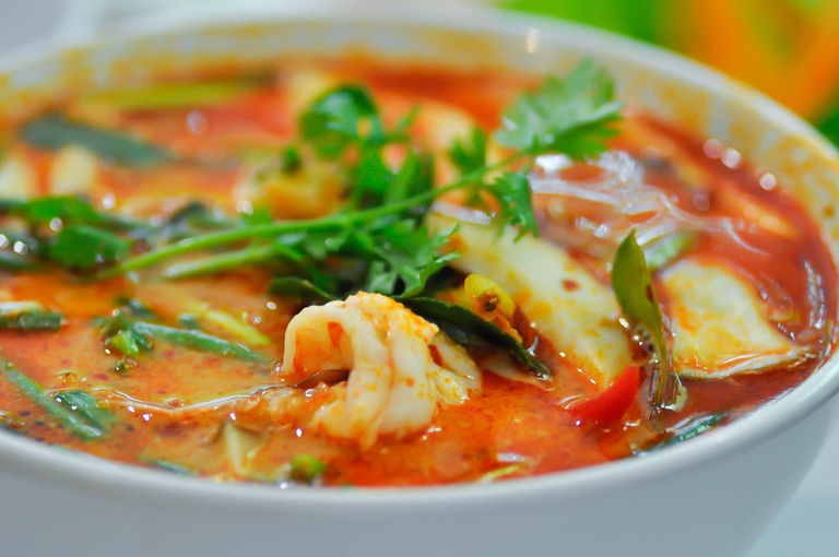 spicy soup or tom yum kung,tom yum goong