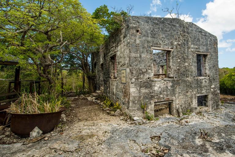 Wade's Green Plantation Historic Site, Kew, North Caicos,  Turks and Caicos Islands, Caribbean.