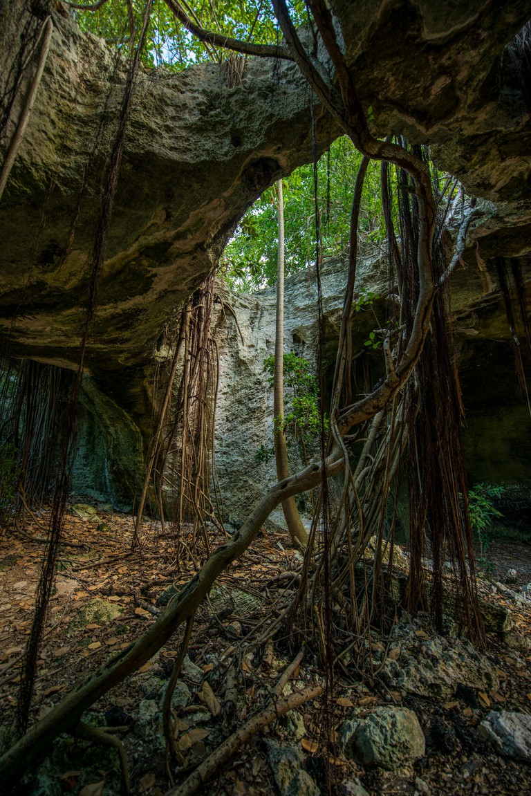 Indian Cave, Middle Caicos, Turks and Caicos Islands, Caribbean.