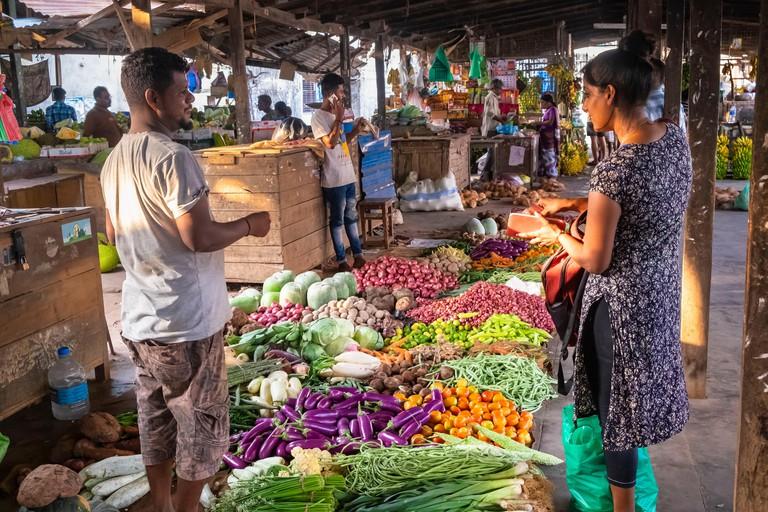 Sri Lanka, Northern province, Jaffna, Jaffna central market
