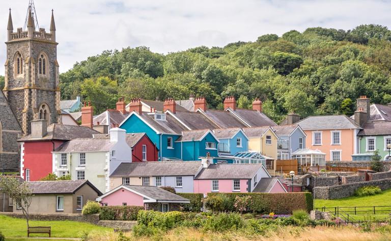 Aberaeron is a popular seaside town in Ceredigion, Wales, UK