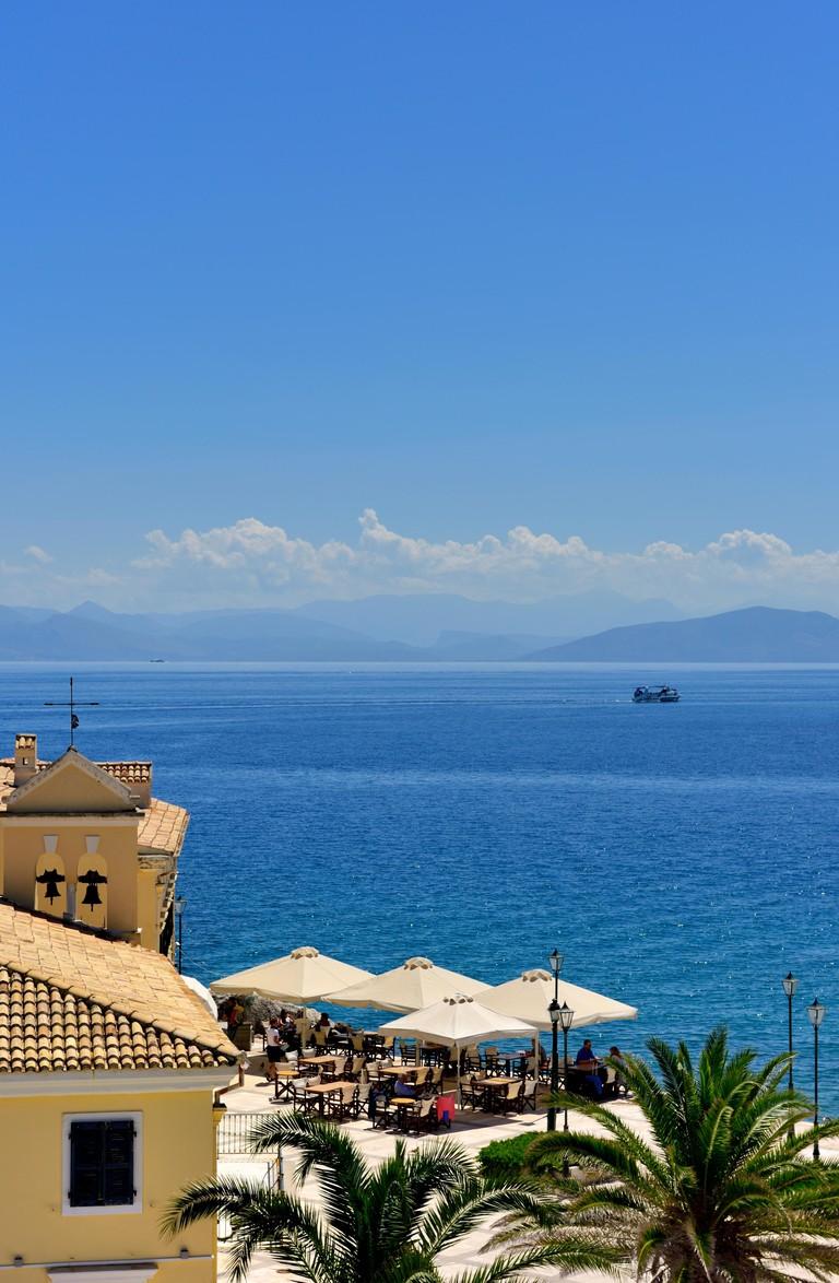 Cafe,Bar,Restaurant,Faliraki, Corfu Old Town,Kerkyra, Ionian Islands, Greece