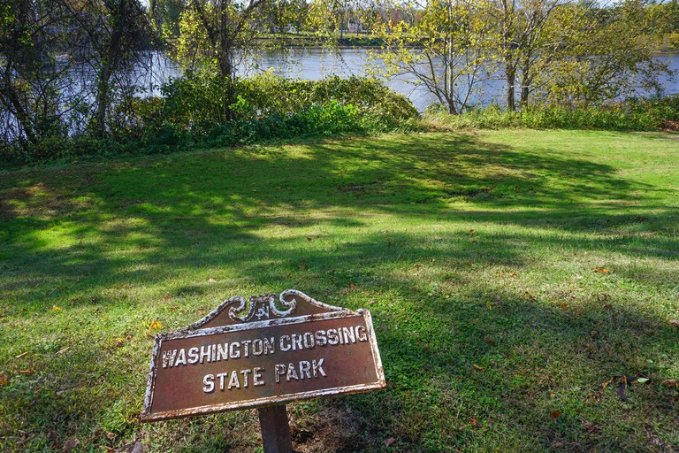 2A828AT Washington Crossing, Titusville, NJ: State Park at the site of George Washington's crossing of the Delaware River in December 1776.