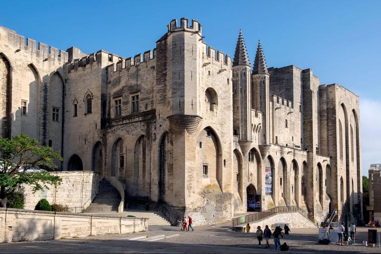 Palais des Papes / Palace of the Popes, Place du Palais, Avignon, Provence, France, Europe
