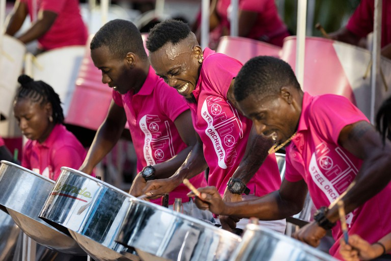 Steelpan competition, Port of Spain, Trinidad and Tobago