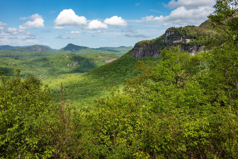 Scenic view of Whiteside Mountain in the Nantahala National Forest between Highlands and Cashiers, North Carolina. (USA)