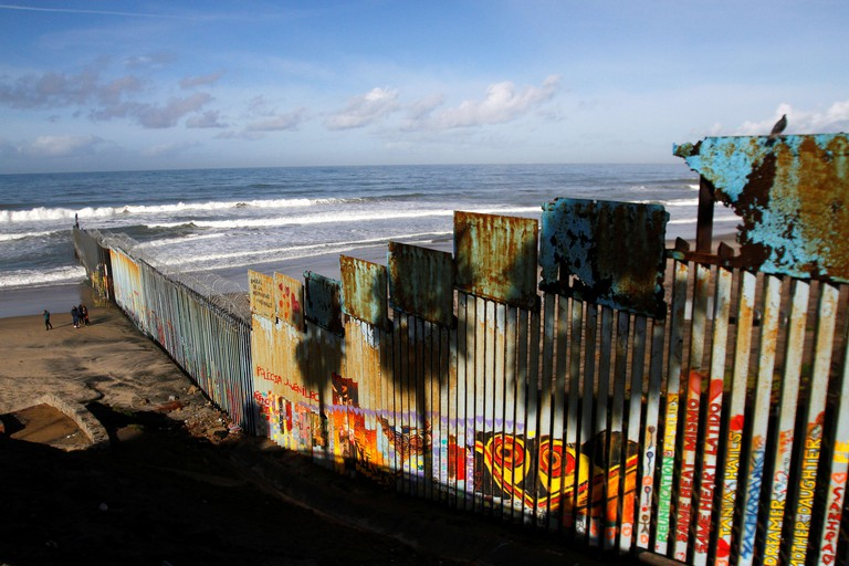A general view shows the U.S. and Mexico border fence at Friendship Park in Tijuana, Mexico February 15, 2019. REUTERS/Jorge Duenes