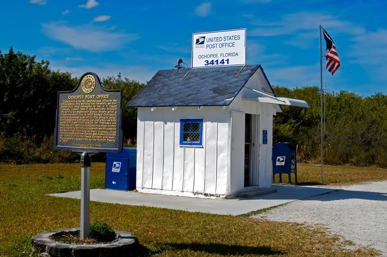 Smallest Post Office in the United States located in Ochopee Florida