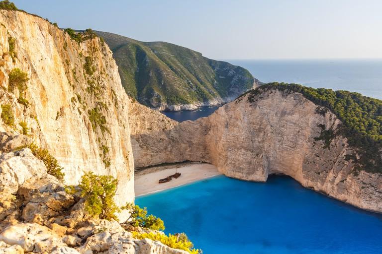 Zakynthos island Greece shipwreck Navagio beach travel vacation travel