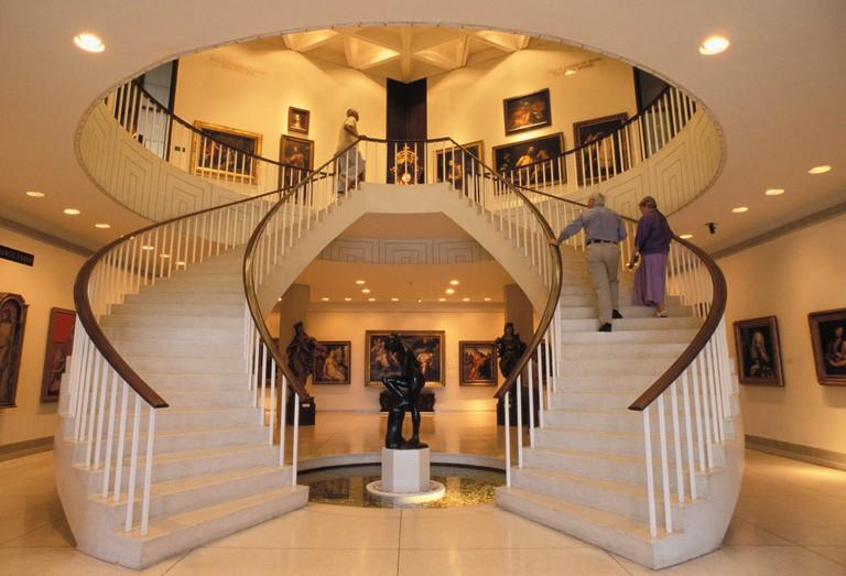 Museo de Arte de Puerto Rico main lobby and staircase to galleries San Juan Puerto Rico