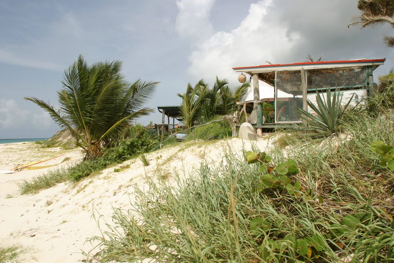 The Dune Reserve bar on the Island of Anguilla owned by Bankie Banx Home of the famouse moon splash music festival