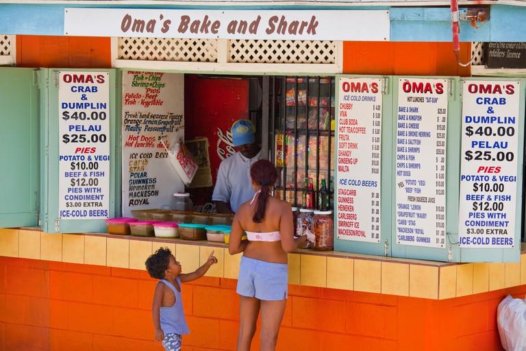 Bake N Shark Shack at Maracas Bay in Trinidad. Image shot 2009. Exact date unknown.