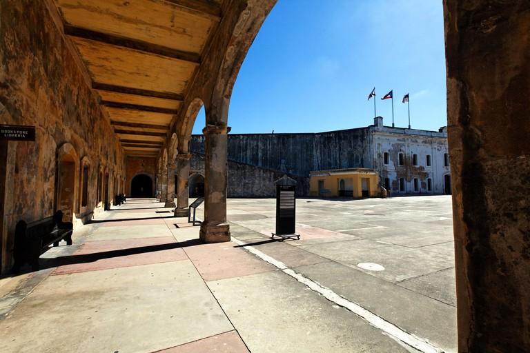 Courtyard View of the San Cristobal Fort, Old San Juan, Puerto Rico