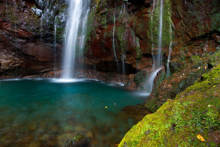25 Fontes, Portugal, Europe, Madeira, springs, sources, water, nature, waterfall, rock, cliff, cliff kettle, moss