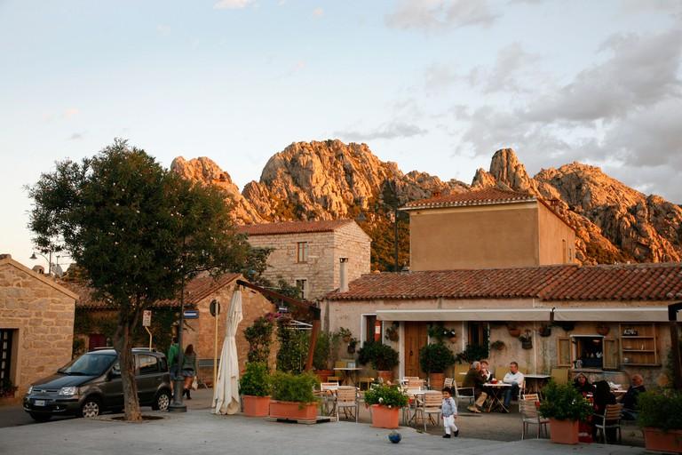 San Pantaleo village, Sardinia, Italy.