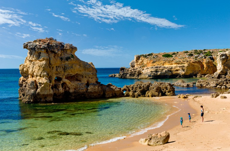 Portugal, the Algarve, Praia dos Arrifes, near Albufeira in winter. Image shot 2016. Exact date unknown.