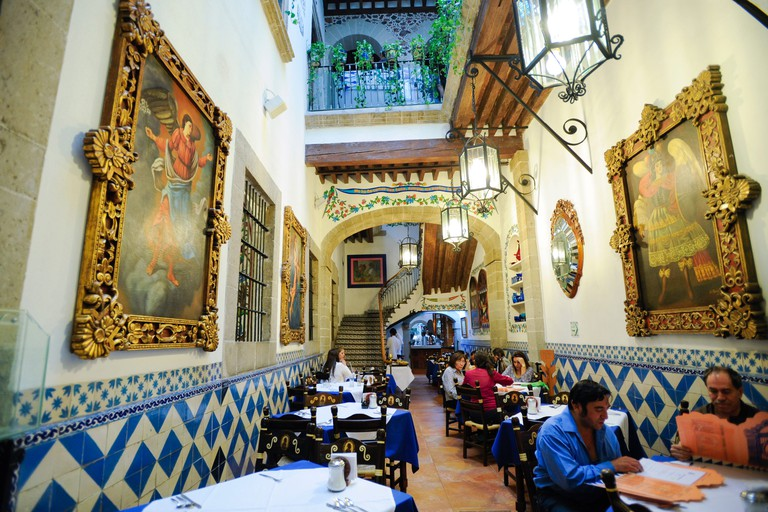 Restaurante Cafe de Tacuba in Mexico City, Mexico and founded in 1912 in an old convent.