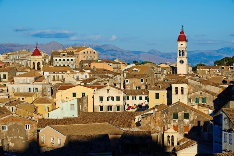 Greece, Ionian island, Corfu island, Kerkyra city, Unesco world heritage, Agios Spyridon church