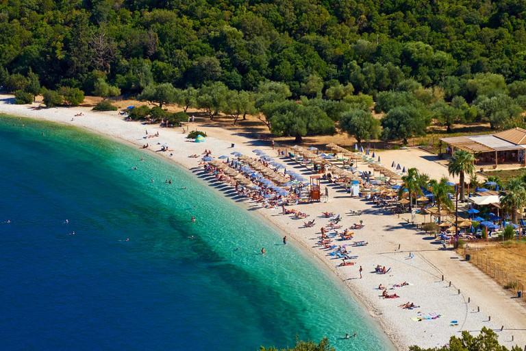 Greece Ionian island Cephalonia Antisamos beach