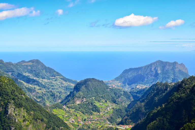 Lookout from the Balcoes viewpoint, Madeira, Portugal