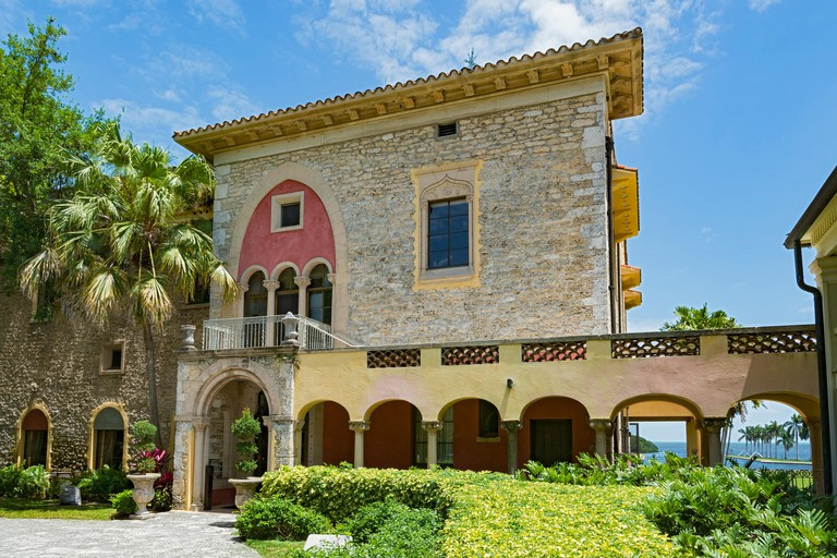 Florida, Miami-Dade County, Palmetto Bay, The Deering Estate at Cutler, Stone House front entrance
