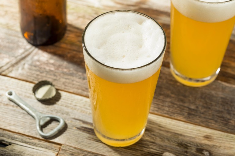 Light Refreshing Summer Craft Beer in a Pint Glass