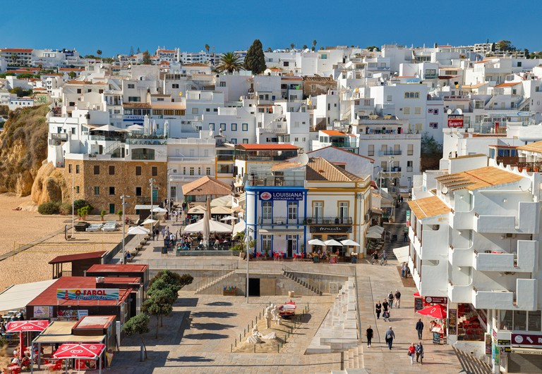Albufeira old town in winter