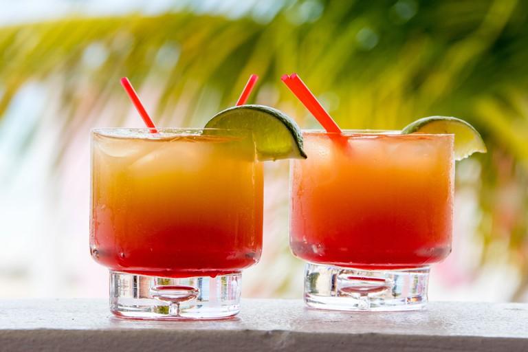 Rum Punch at Ana's on the Beach Bar, Dickenson Bay Beach, Antigua