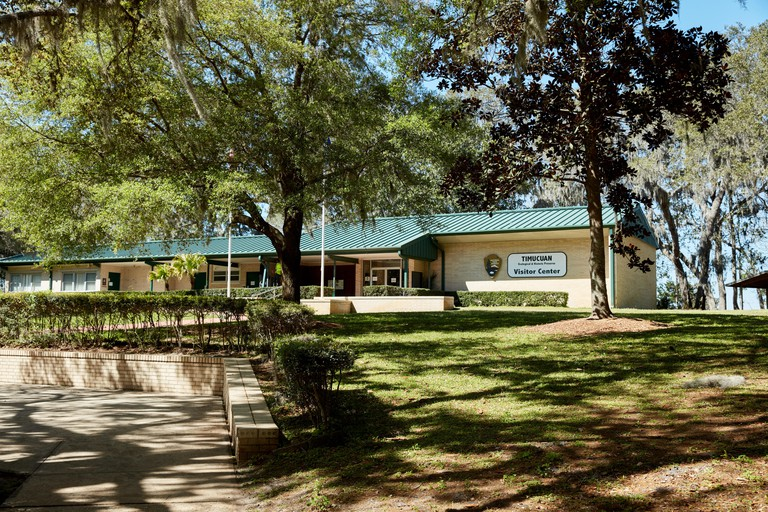 The visitor center at the Timucuan Ecological and Historic Preserve in Jacksonville, Florida